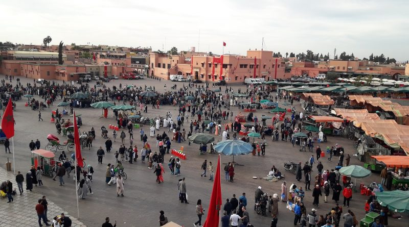 Jemaa el-Fnaa Historical Place Large public square with small merchants, hawkers entertainers, popular with tourists best location to to visit in Morocco