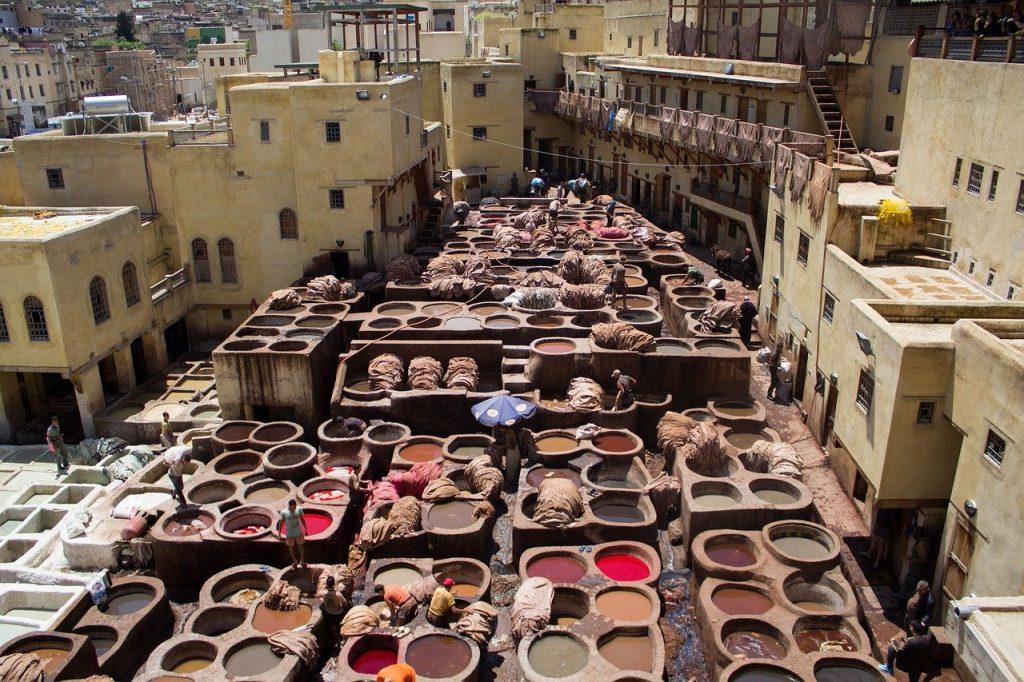 Tanneries boujloud fes 3 Days Marrakesh to Fes Desert Tour